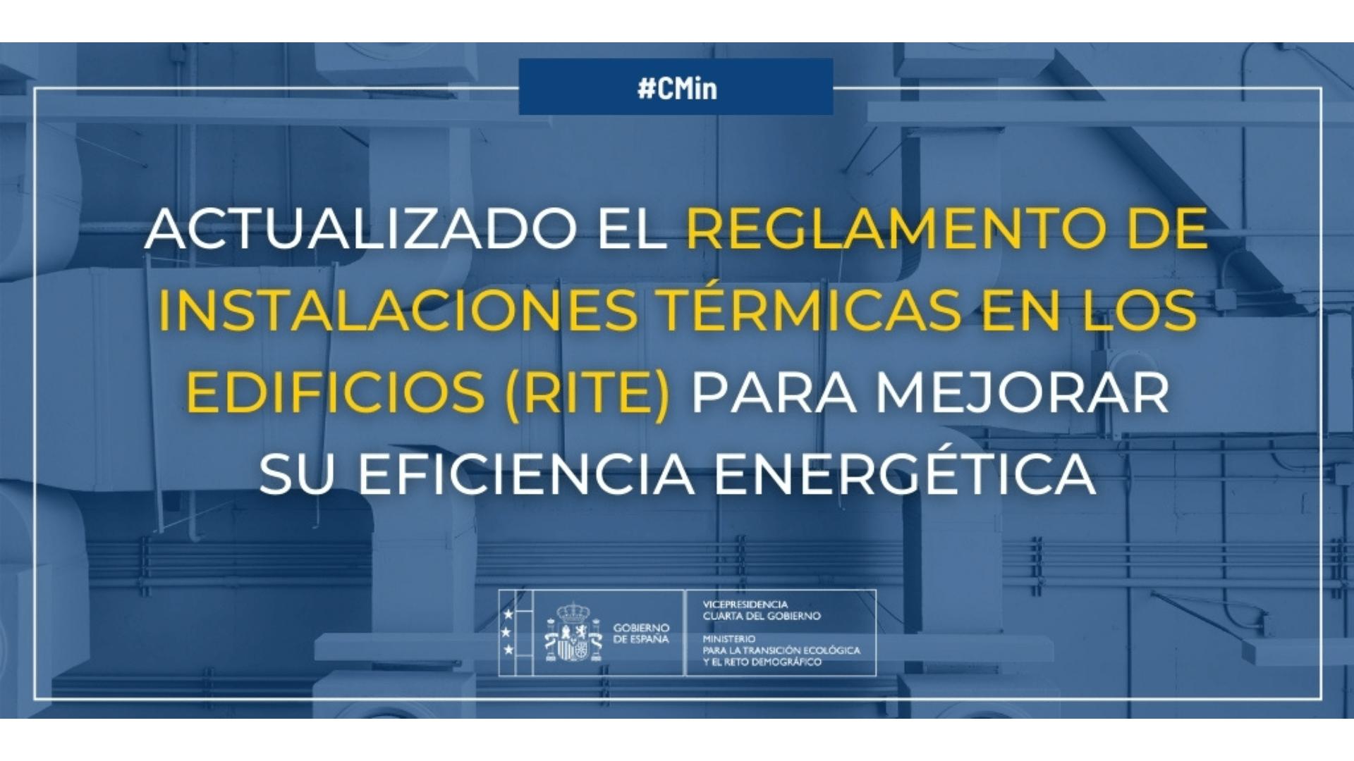 Actualizado el RITE para mejorar la eficiencia energética de las instalaciones